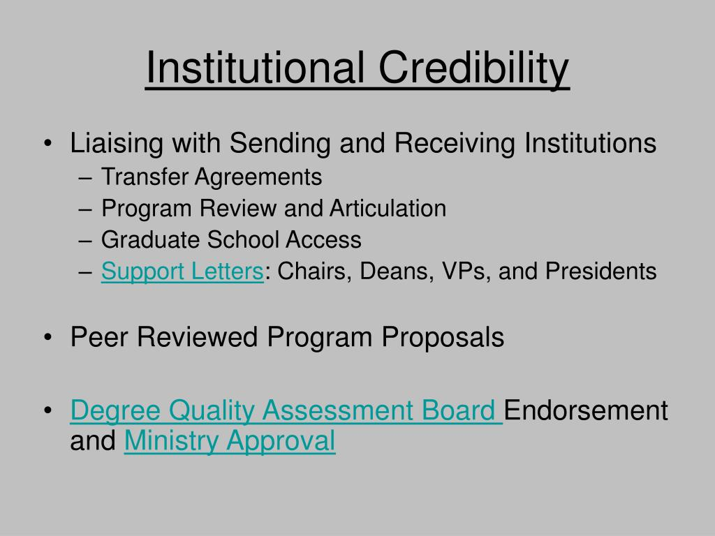 Institutional Credibility