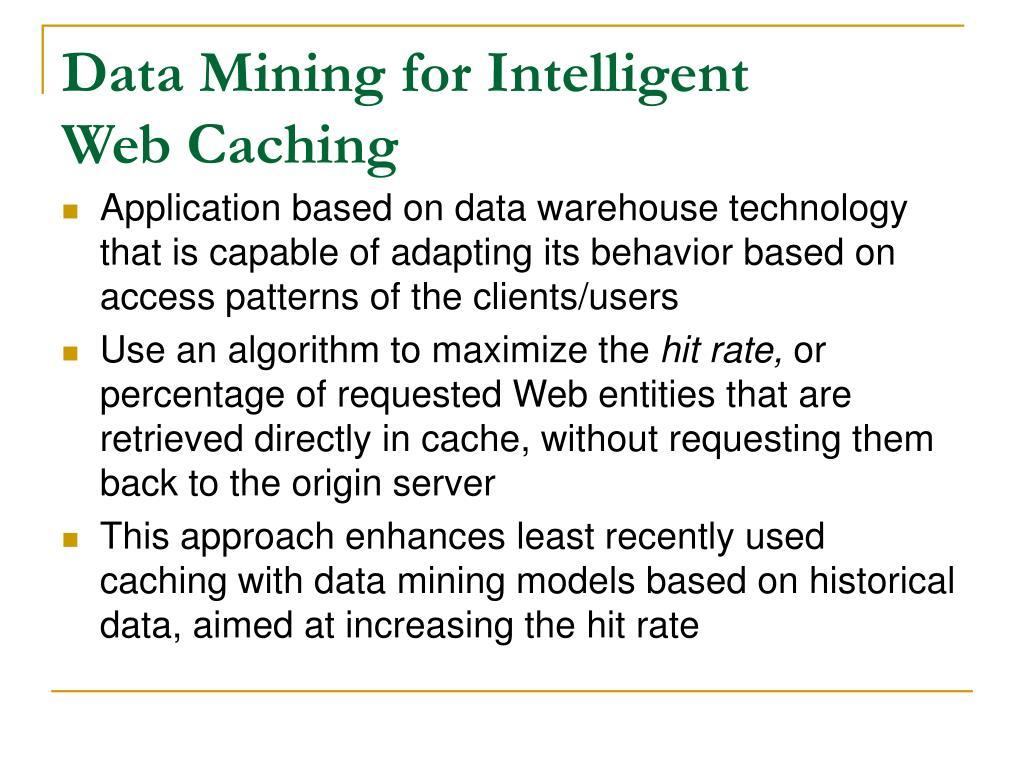 Data Mining for Intelligent