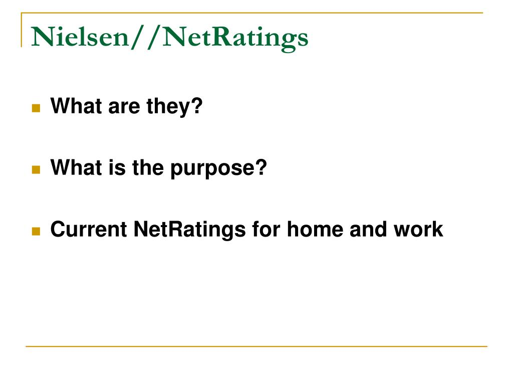 Nielsen//NetRatings