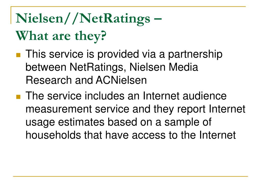 Nielsen//NetRatings –