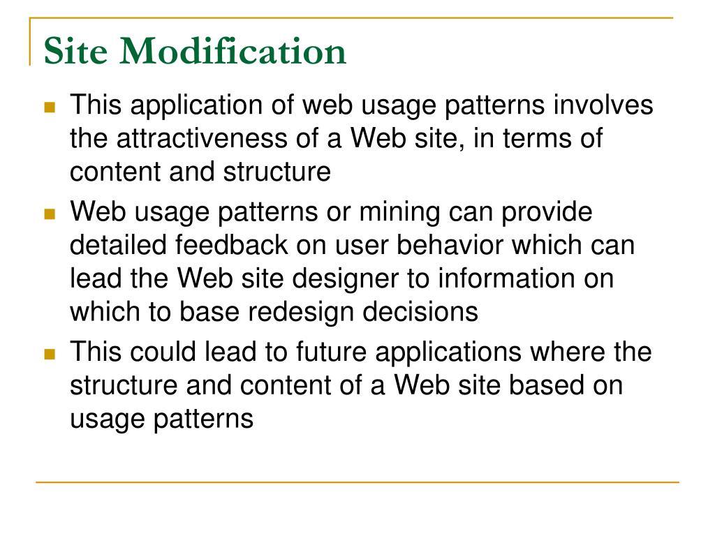 Site Modification