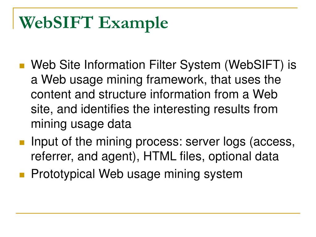 WebSIFT Example