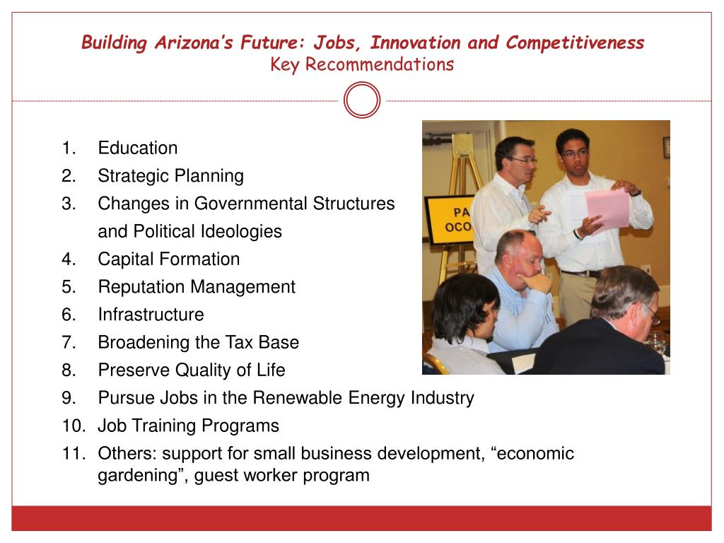 Building Arizona's Future: Jobs, Innovation and Competitiveness