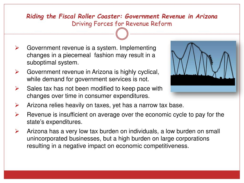 Riding the Fiscal Roller Coaster: Government Revenue in Arizona