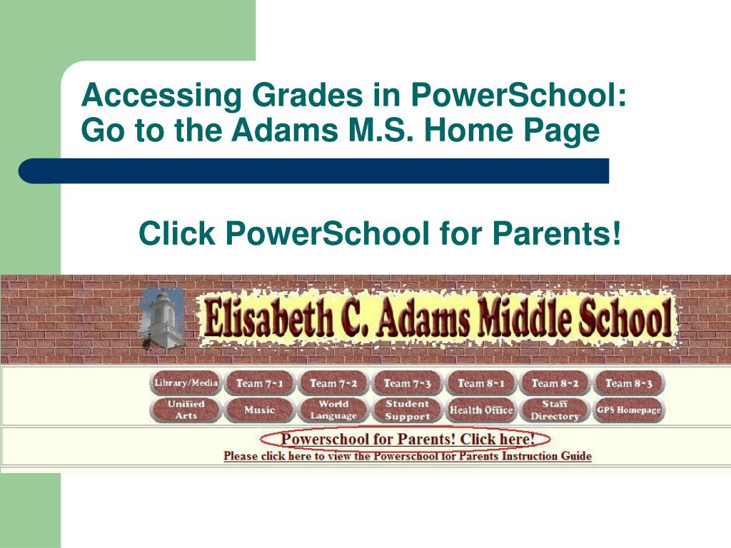 Accessing Grades in PowerSchool: