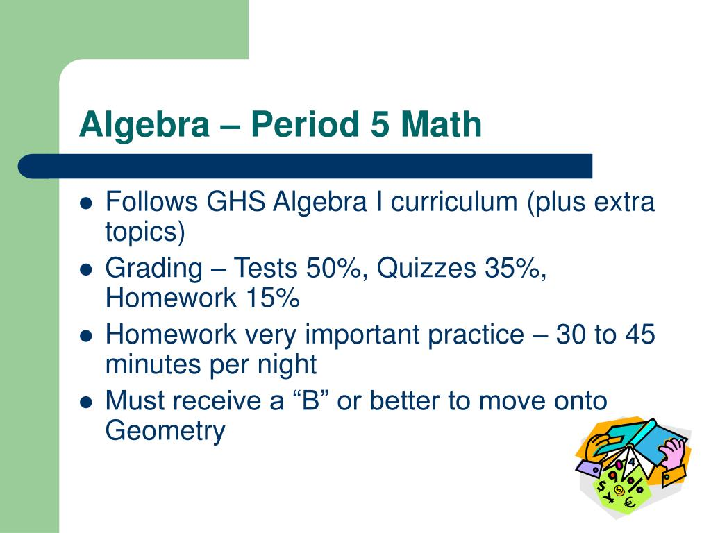 Algebra – Period 5 Math