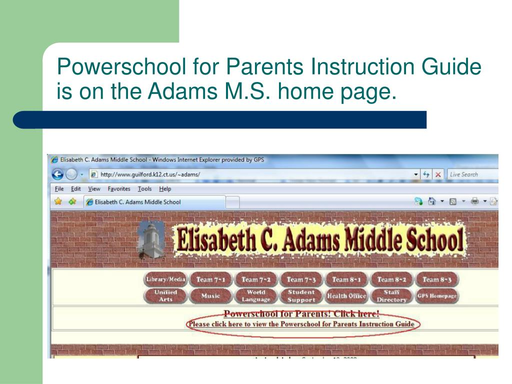 Powerschool for Parents Instruction Guide
