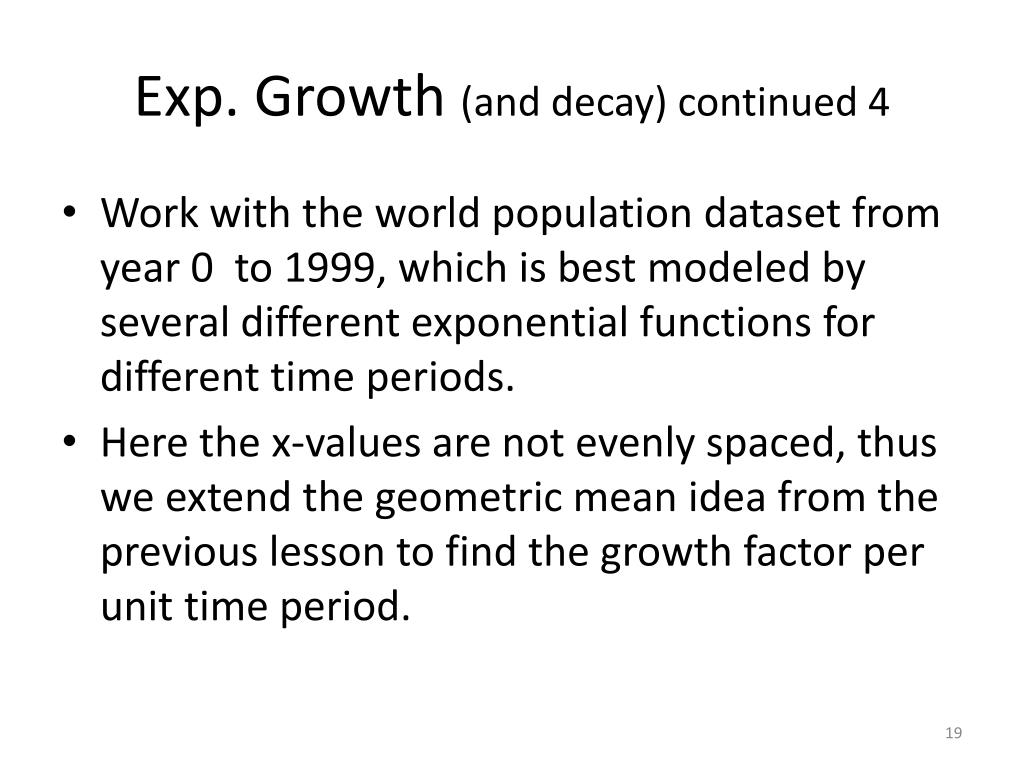 Exp. Growth