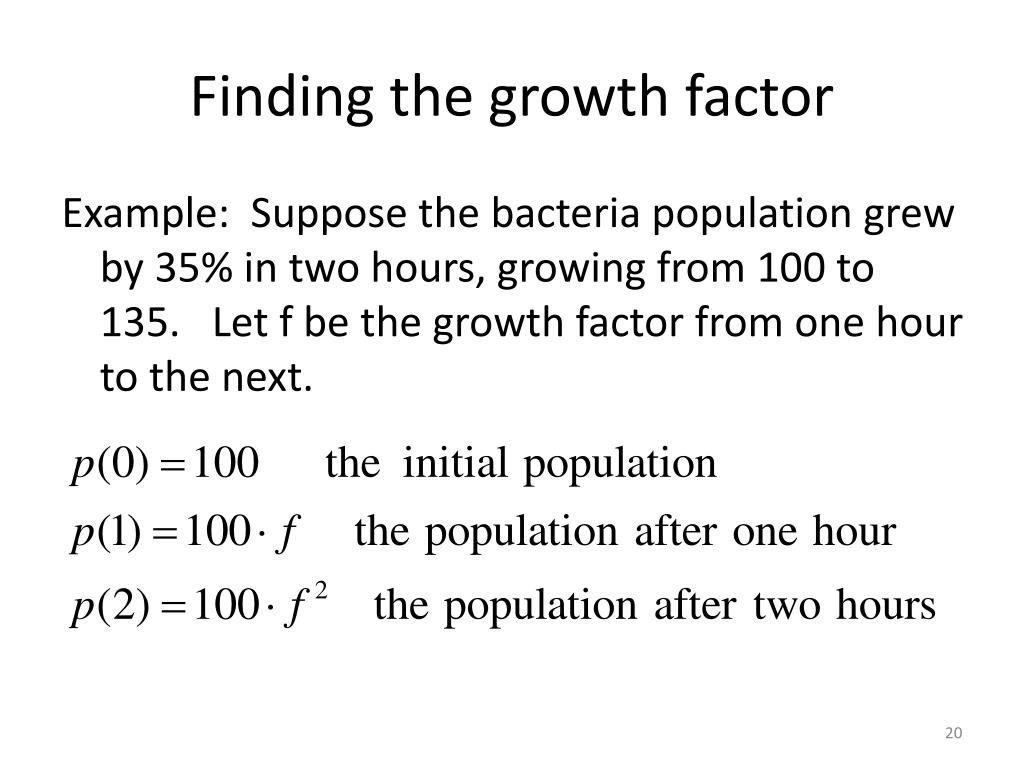 Finding the growth factor