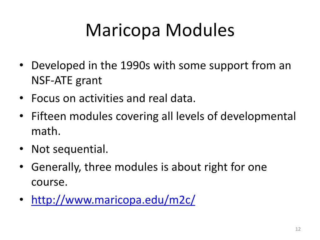 Maricopa Modules
