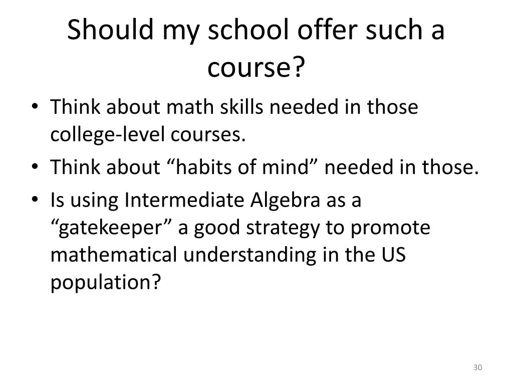 Should my school offer such a course?