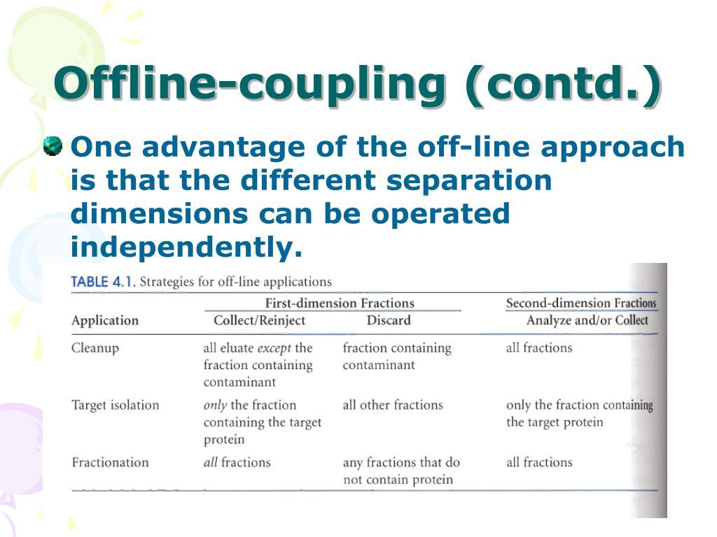 Offline-coupling (contd.)