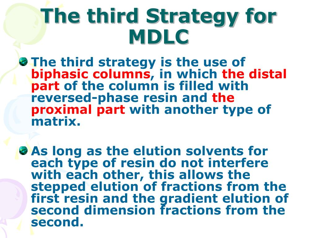 The third Strategy for MDLC