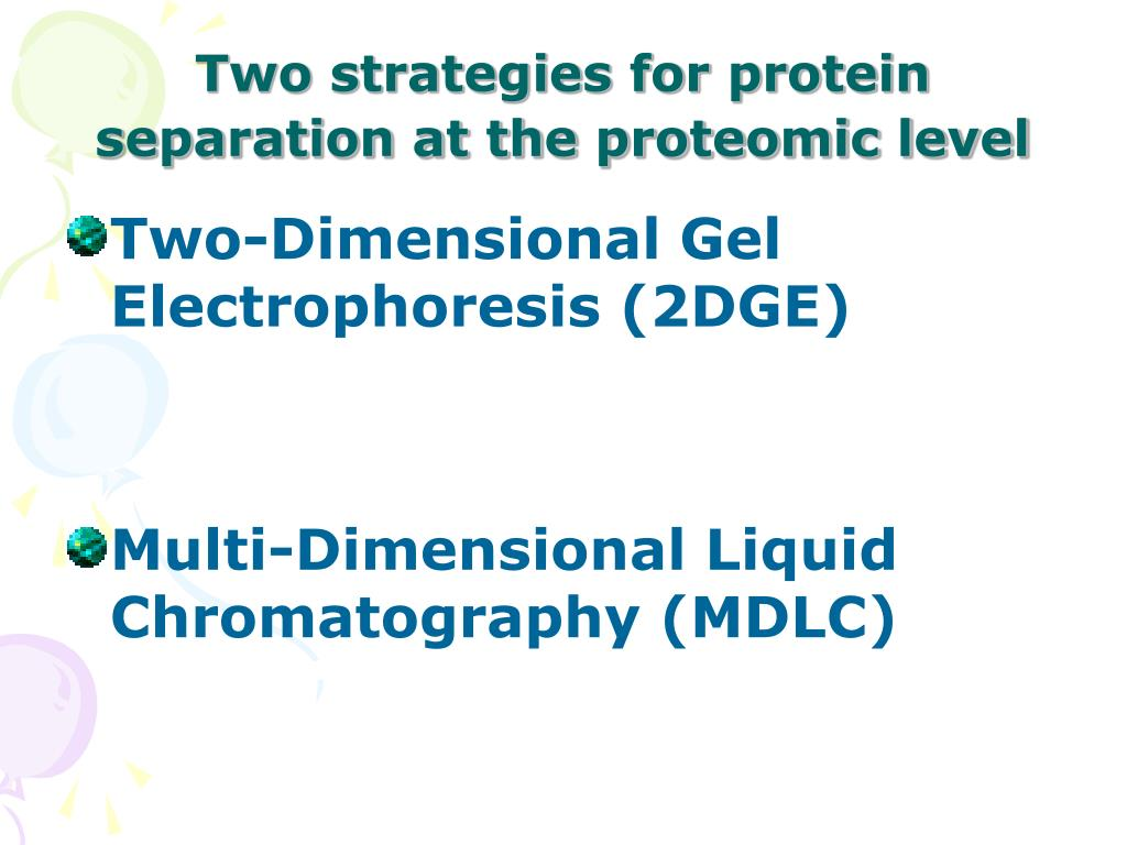 Two strategies for protein separation at the proteomic level