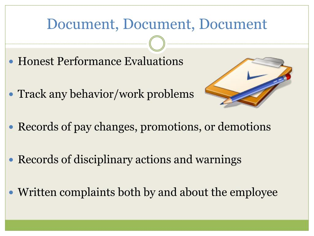 Document, Document, Document