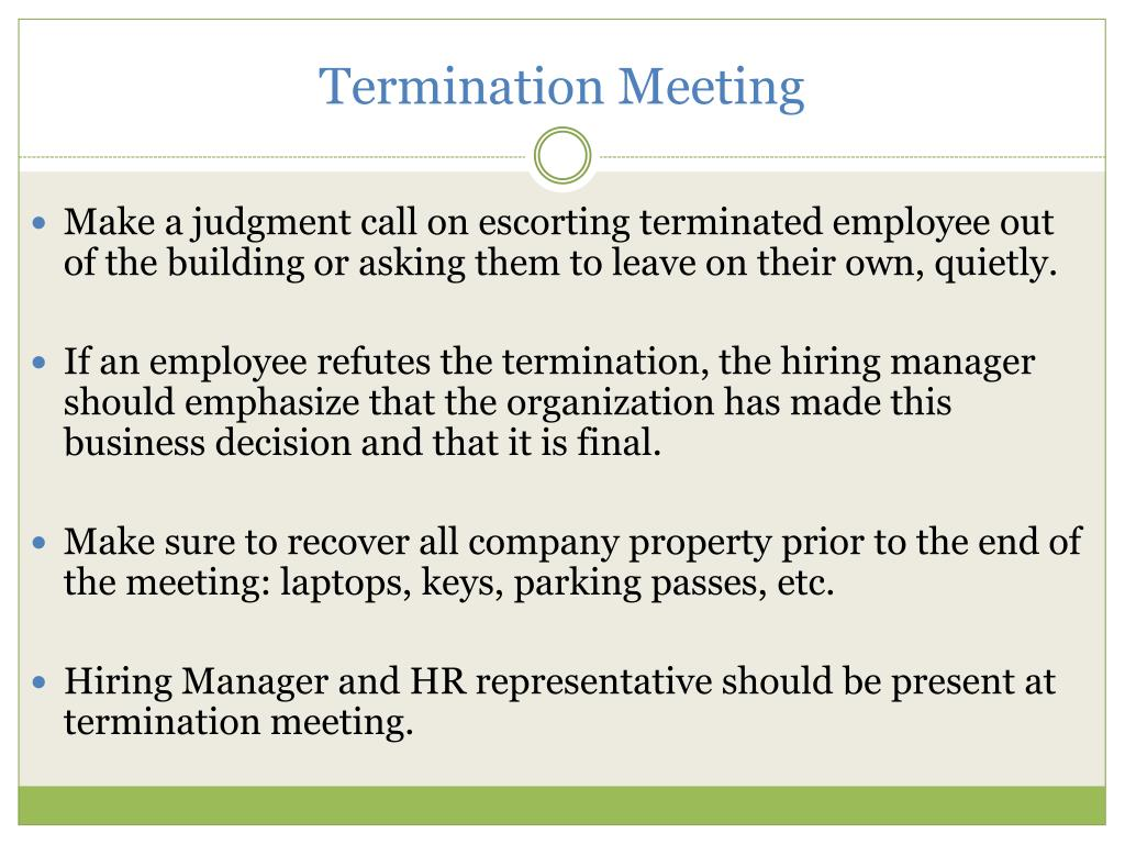 Termination Meeting