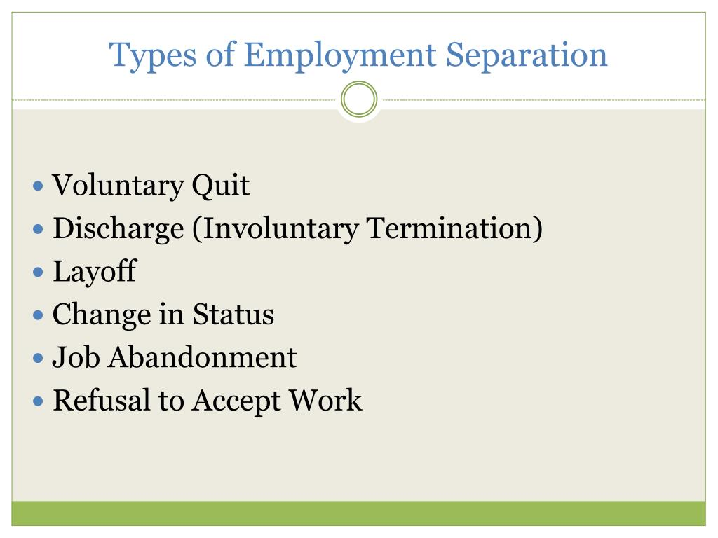Types of Employment Separation