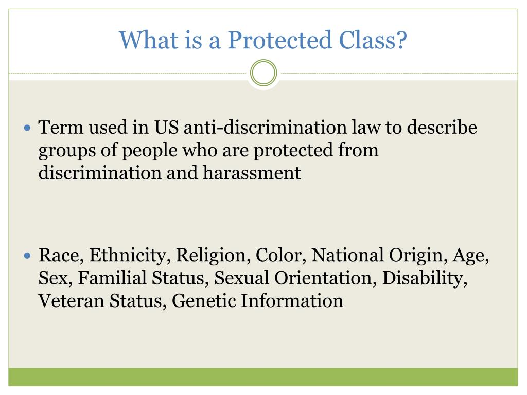 What is a Protected Class?