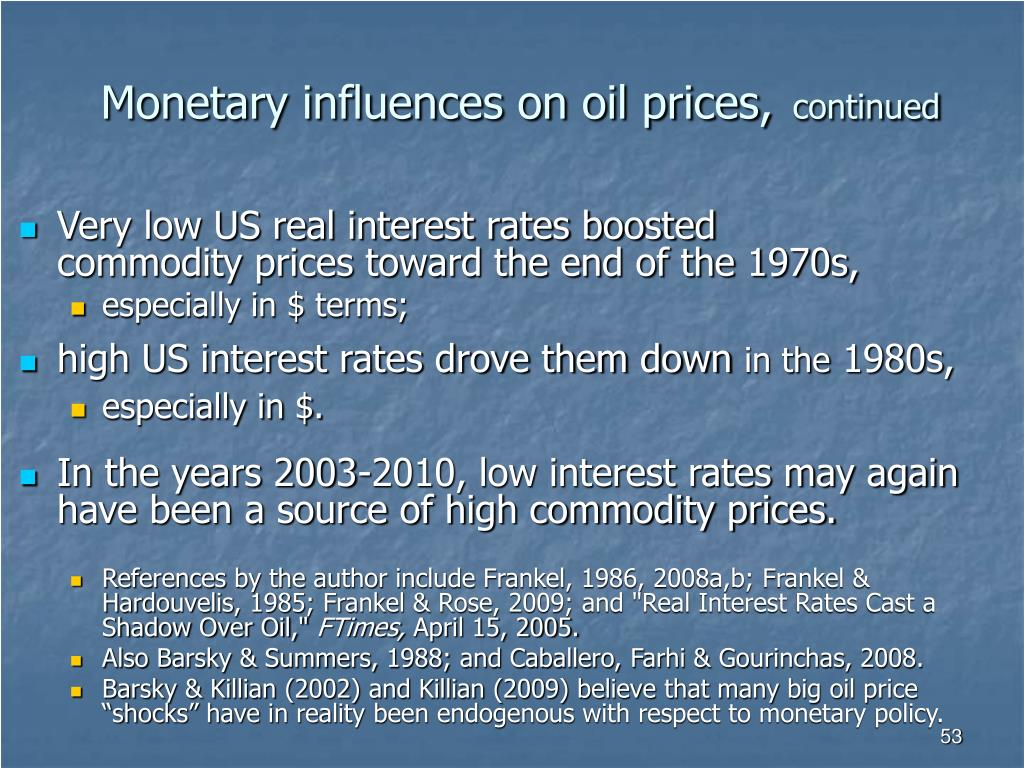 Monetary influences on oil prices,
