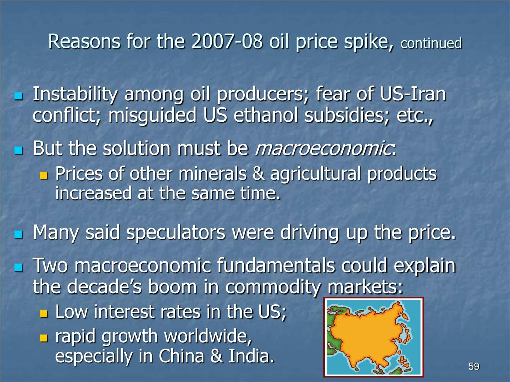Reasons for the 2007-08 oil price spike,