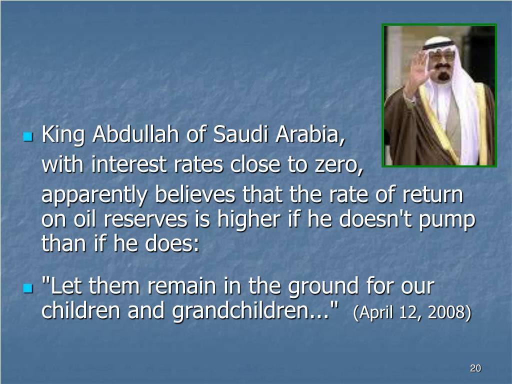 King Abdullah of Saudi Arabia,