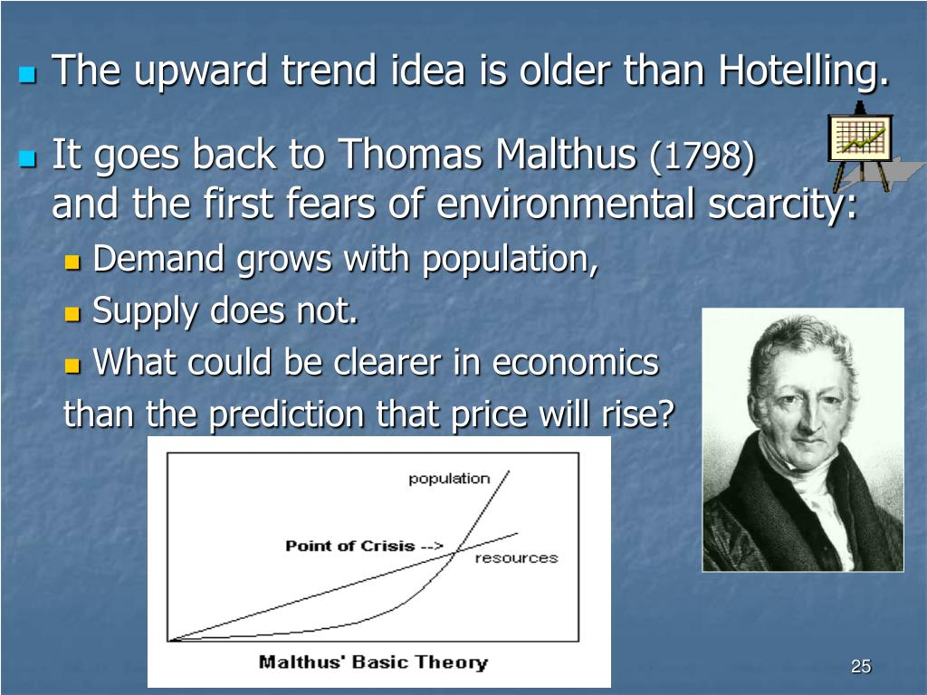 The upward trend idea is older than Hotelling.