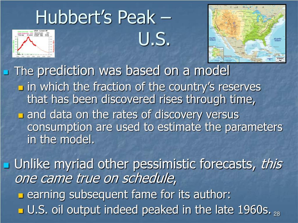 Hubbert's Peak – U.S.
