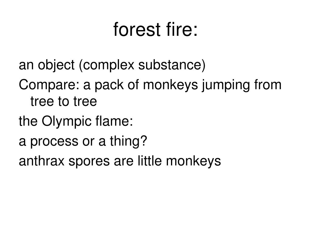 forest fire: