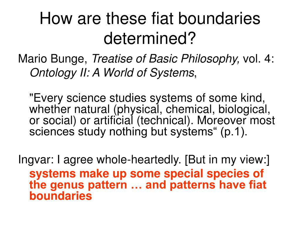 How are these fiat boundaries determined?