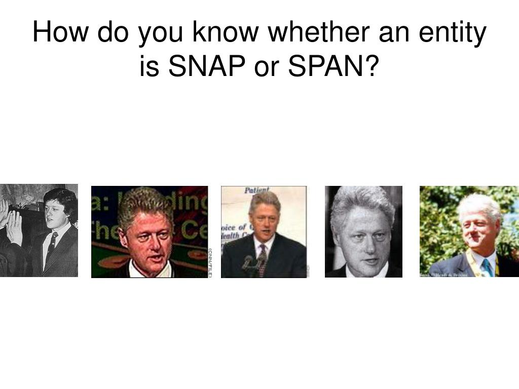 How do you know whether an entity is SNAP or SPAN?