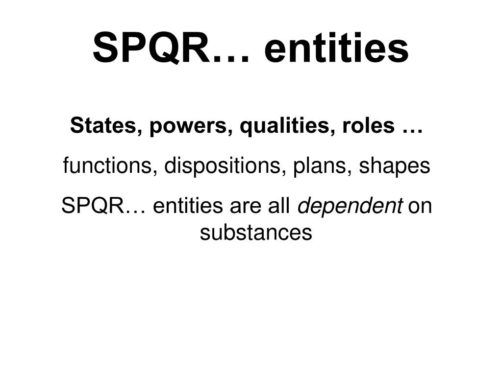SPQR… entities