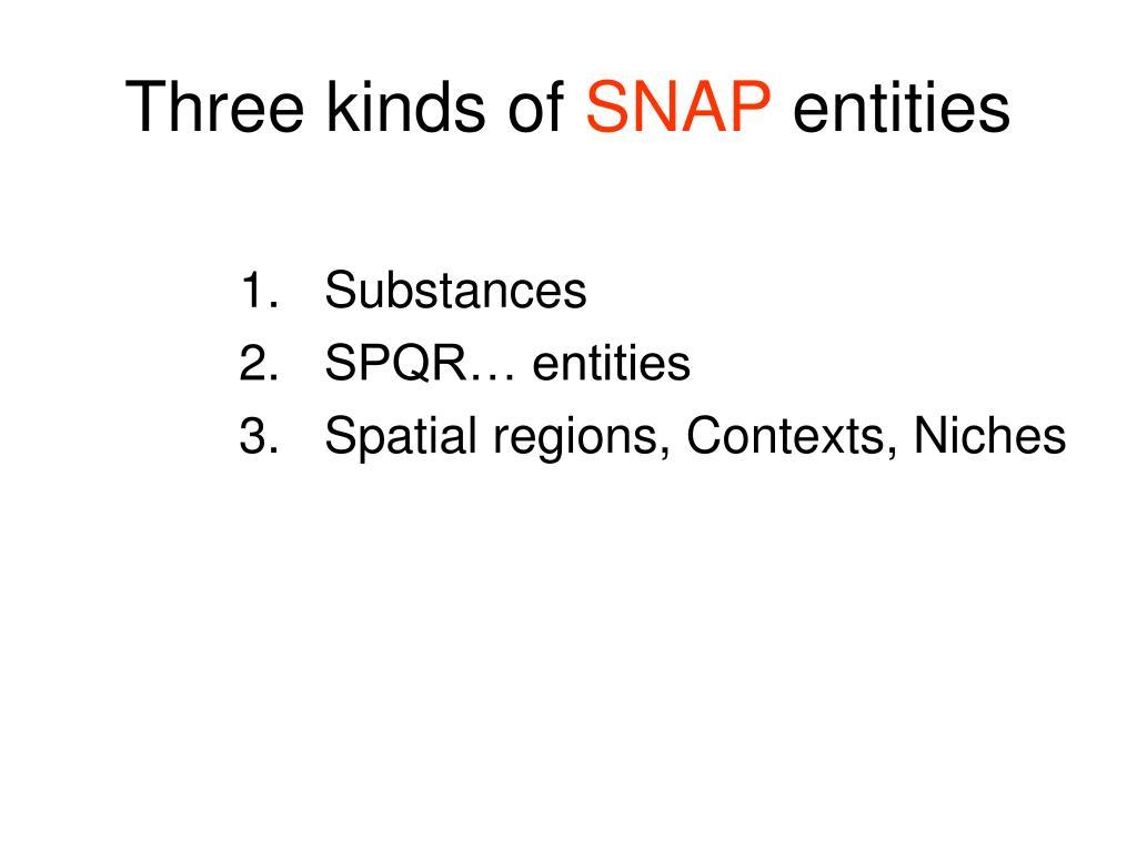 Three kinds of