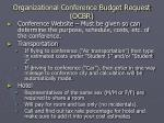 organizational conference budget request ocbr24