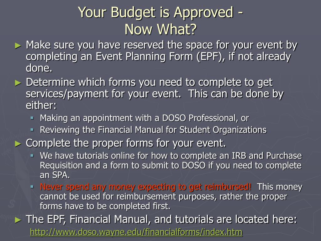 Your Budget is Approved -