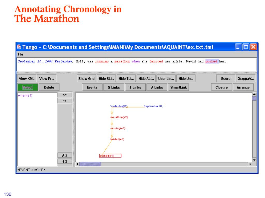 Annotating Chronology in