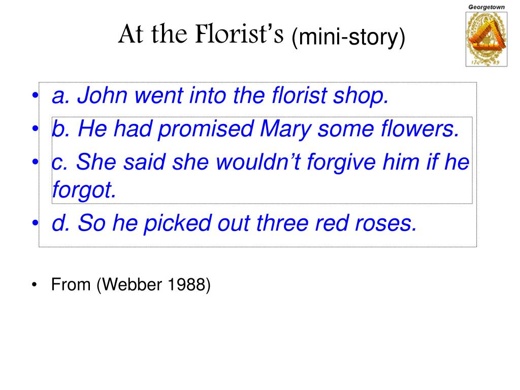 At the Florist