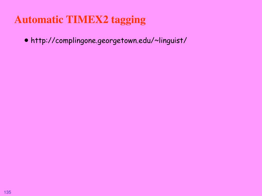 Automatic TIMEX2 tagging