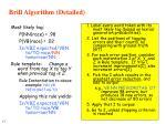 brill algorithm detailed