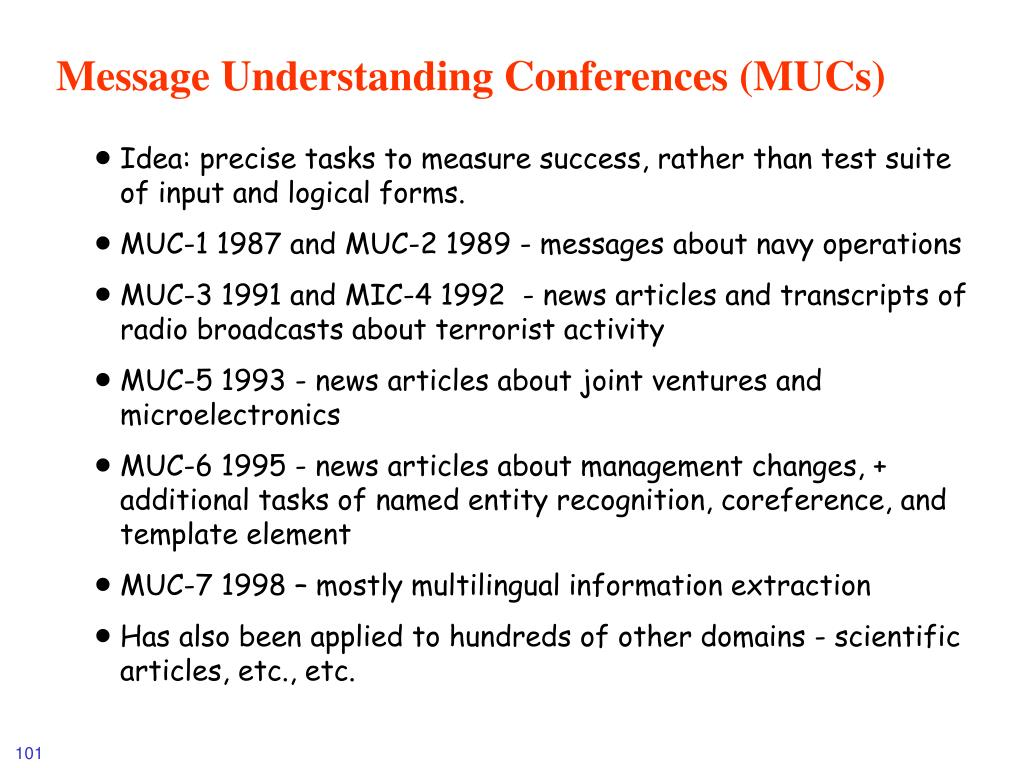 Message Understanding Conferences (MUCs)