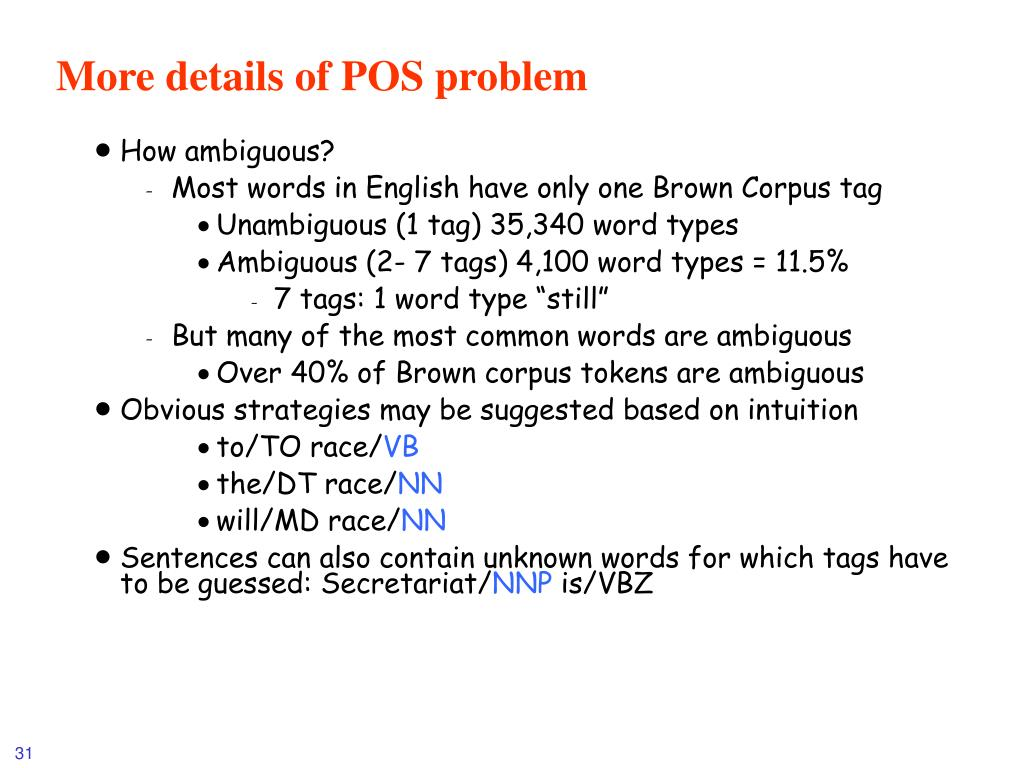 More details of POS problem