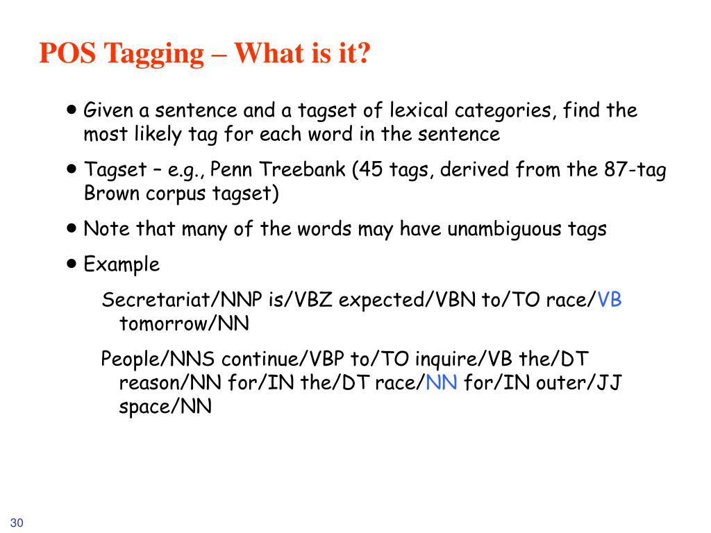 POS Tagging – What is it?