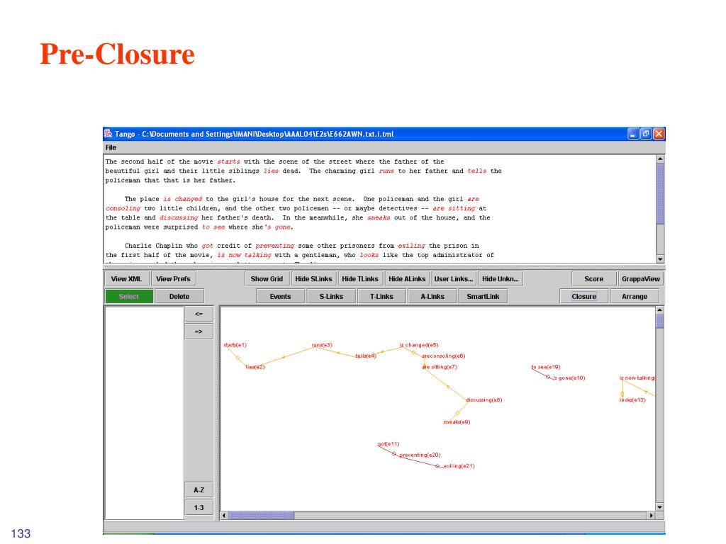 Pre-Closure