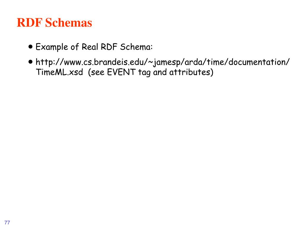 RDF Schemas