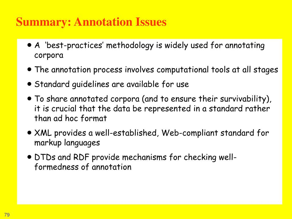 Summary: Annotation Issues