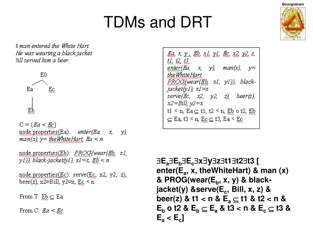TDMs and DRT