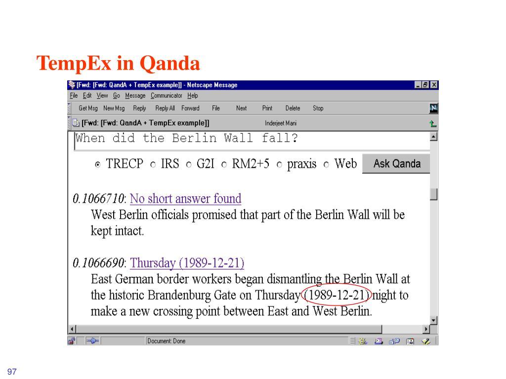 TempEx in Qanda