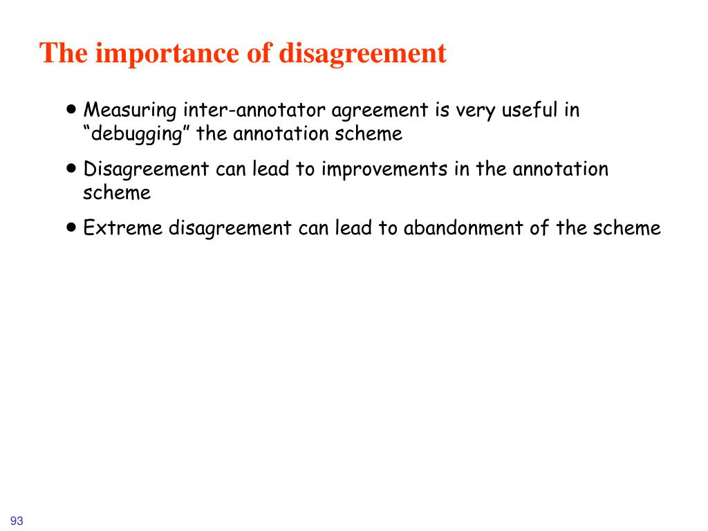 The importance of disagreement
