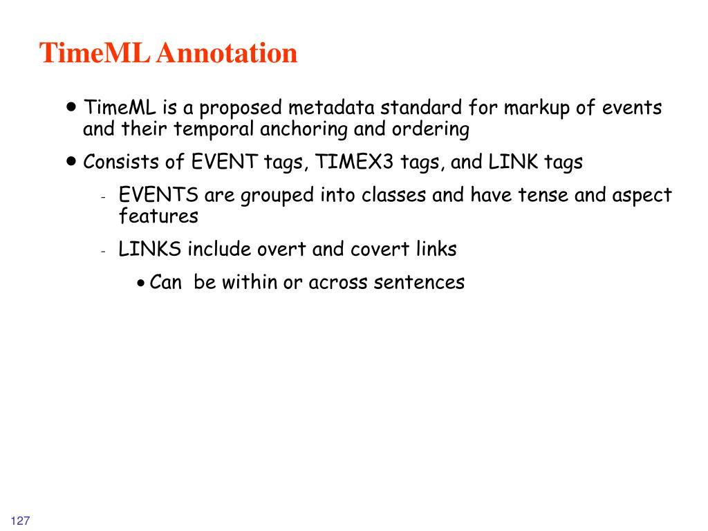 TimeML Annotation