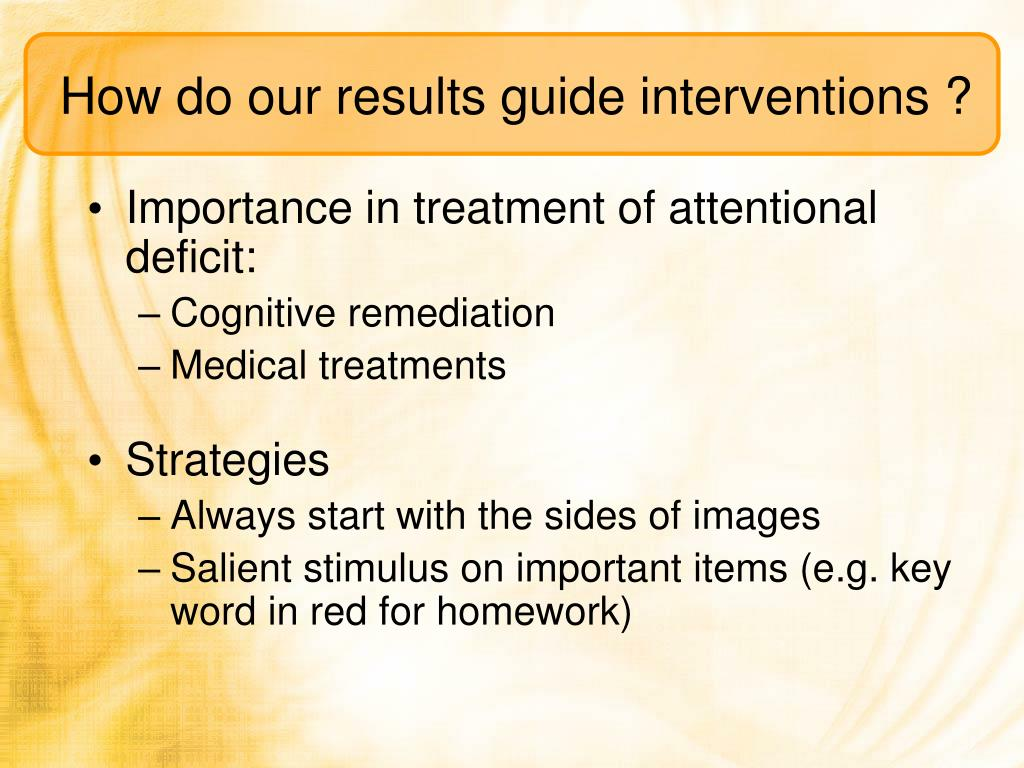 How do our results guide interventions ?