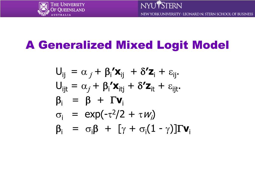 A Generalized Mixed Logit Model